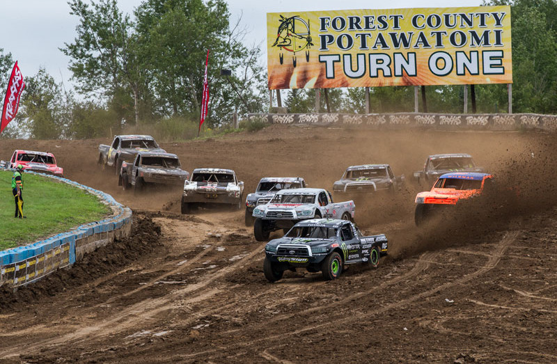 johnny and cj greaves compete in the pro-4 class at crandon