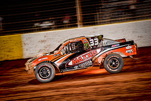 CJ Greaves in his number 33 Maxxis Tire Toyota.